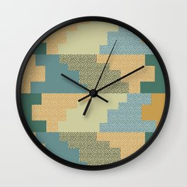 Shapes and dots Wall Clock