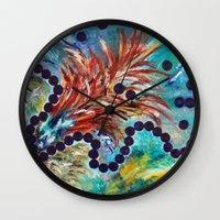 big bang Wall Clocks featuring Big Bang by Art of Leki