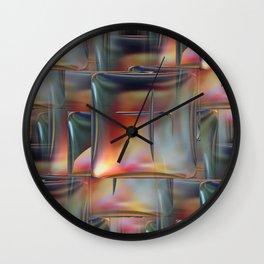 Mirrored Metallic Tile Wall Clock
