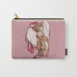 Slavic Beauty in Hucul clothing Carry-All Pouch