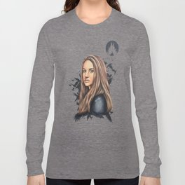 """Tris Prior - Divergent """"Drop Every Fear""""   Drawing Long Sleeve T-shirt"""