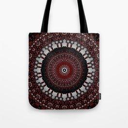 Decorative Red Mandala Design Tote Bag
