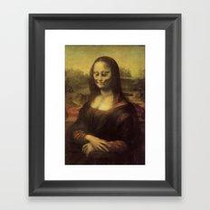 Monnalisa is dead Framed Art Print