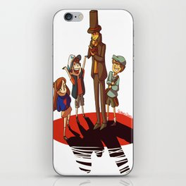 Layton in Gravity Falls iPhone Skin