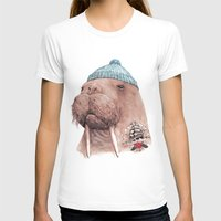 walrus T-shirts featuring Tattooed Walrus by Animal Crew