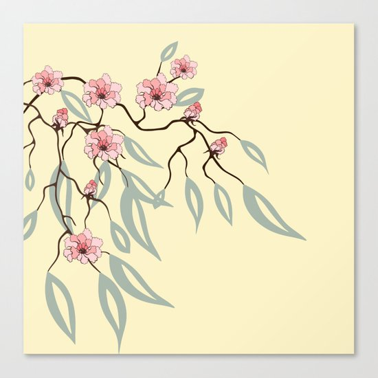 Floral. Dreams of spring. Pink sakura. Canvas Print
