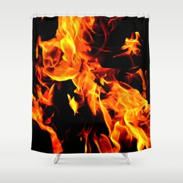 Fire on Display Shower Curtain