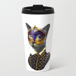 The Cat Behind the Mask Travel Mug