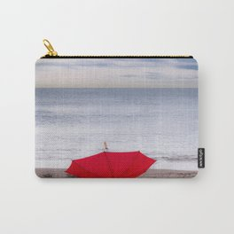 Red Umbrella at the beach Carry-All Pouch