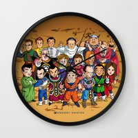dbz Wall Clocks featuring DBZ Mexican Voice Actors by Neokoi