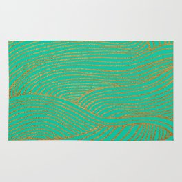 Wind Gold Turquoise Rug