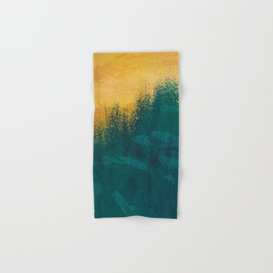 Gold Rush Peacock Hand & Bath Towel
