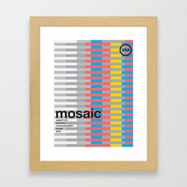 mosaic color variant (2018) Framed Art Print
