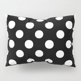Polka Dots (White/Black) Pillow Sham