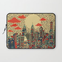 philadelphia city skyline Laptop Sleeve