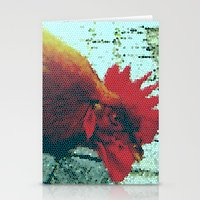 cock Stationery Cards featuring cock by habish