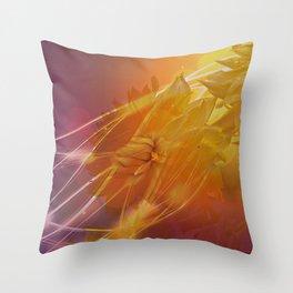 Sun Kissed Dahlia Throw Pillow