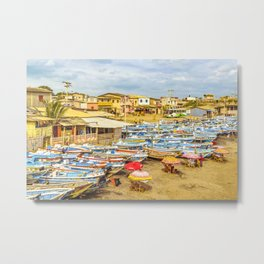 Engabao Beach Guayas Province Ecuador Metal Print