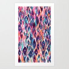 Mystical Ikat Art Print