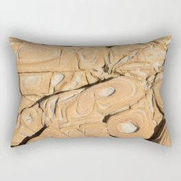 Sandstone texture background. Natural surface with layer Rectangular Pillow