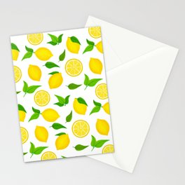 Summer Lemons - Yellow and White Palette Stationery Cards
