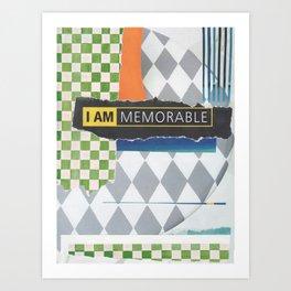 memorable Art Print