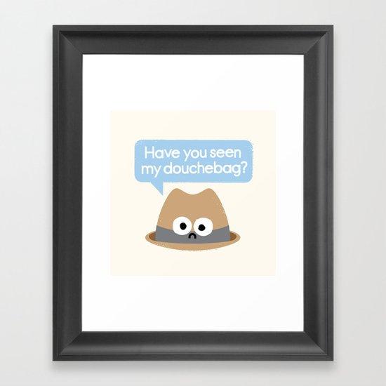 Missing Person Framed Art Print