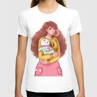 puppycat T-shirts featuring Bee and Puppycat by MW Illustration