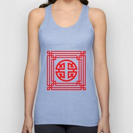 PATTERN ART08-1-Red Unisex Tank Top
