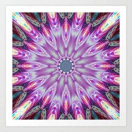flower mandala ultra violet x Art Print
