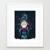 elsa Framed Art Prints featuring Elsa by elixiroverdose
