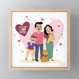 Personalized Illustratiom for Fathers Day Framed Mini Art Print