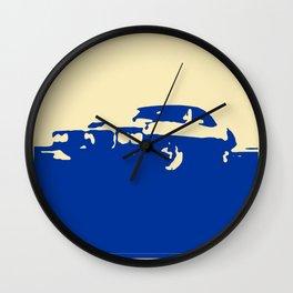 Pontiac Firebird, Blue on Cream Wall Clock