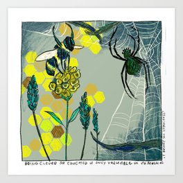 The Bee and the Spider Art Print