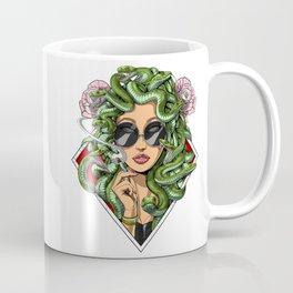 Medusa Hippie Smoking Weed Coffee Mug