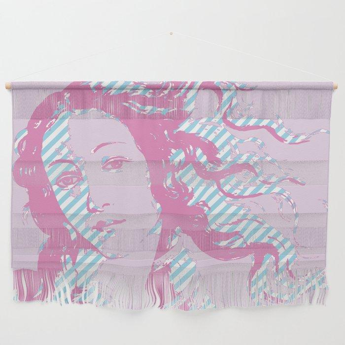 Rebirth of Venus - Pink & Cyan - Trans Pride! Wall Hanging