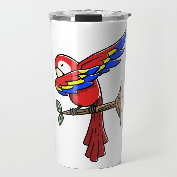 Funny Dabbing Parrot Bird Pet Dab Dance Travel Mug
