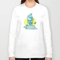 aquarius Long Sleeve T-shirts featuring Aquarius by Chiara Zava