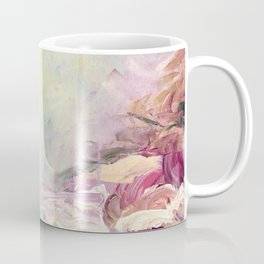 WINTER DREAMLAND 1 Colorful Pastel Aqua Marsala Burgundy Cream Nature Sea Abstract Acrylic Painting  Coffee Mug