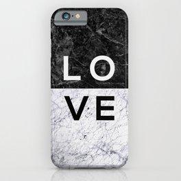 Love B&W iPhone Case