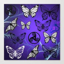 Butterfly Dreams in Purple Canvas Print