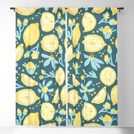 Lemon Pattern Green Blackout Curtain