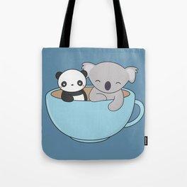 Kawaii Cute Koala and Panda Tote Bag