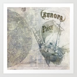 Europa and the Pirate Twins Art Print