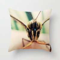 moth Throw Pillows featuring moth by Sookie Endo