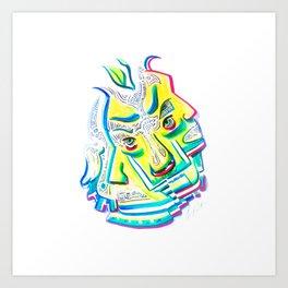 Blurred Emotions Art Print