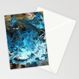Abstract fluid art Stationery Cards