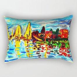 Monet Regatta at Argenteuil Rectangular Pillow