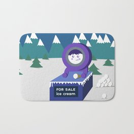Eskimo ice cream stand Bath Mat