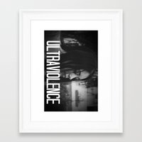 ultraviolence Framed Art Prints featuring ULTRAVIOLENCE GIRL. by Beauty Killer Art